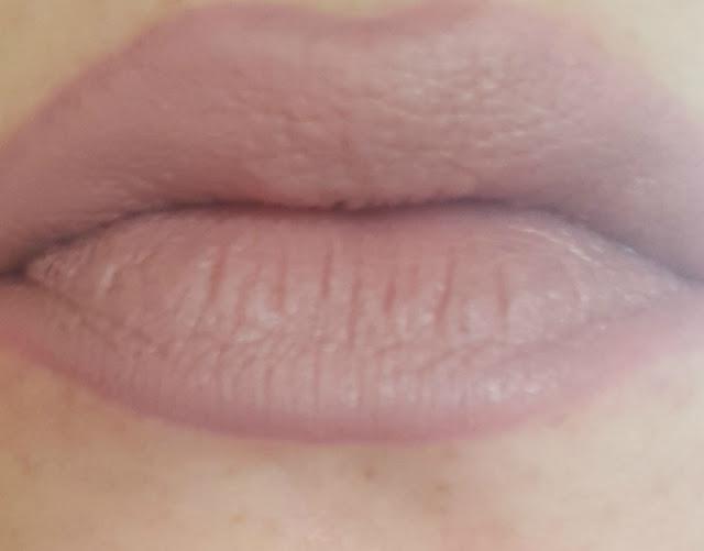 NARS Velvet Lip Liner in El Agua and Elf Studio Matte Lip Colour in Tea Rose lip swatch