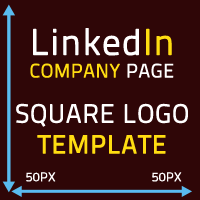 Linkedin Company Page square logo Template 50x50 pixels