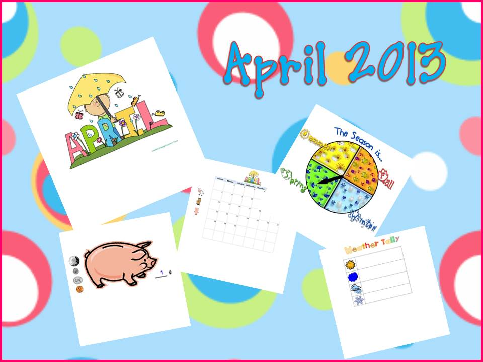 Kindergarten Calendar Smartboard : A teacher s touch april smartboard and powerpoint calendar
