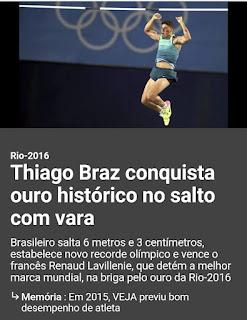 Ouro inédito para o Brasil