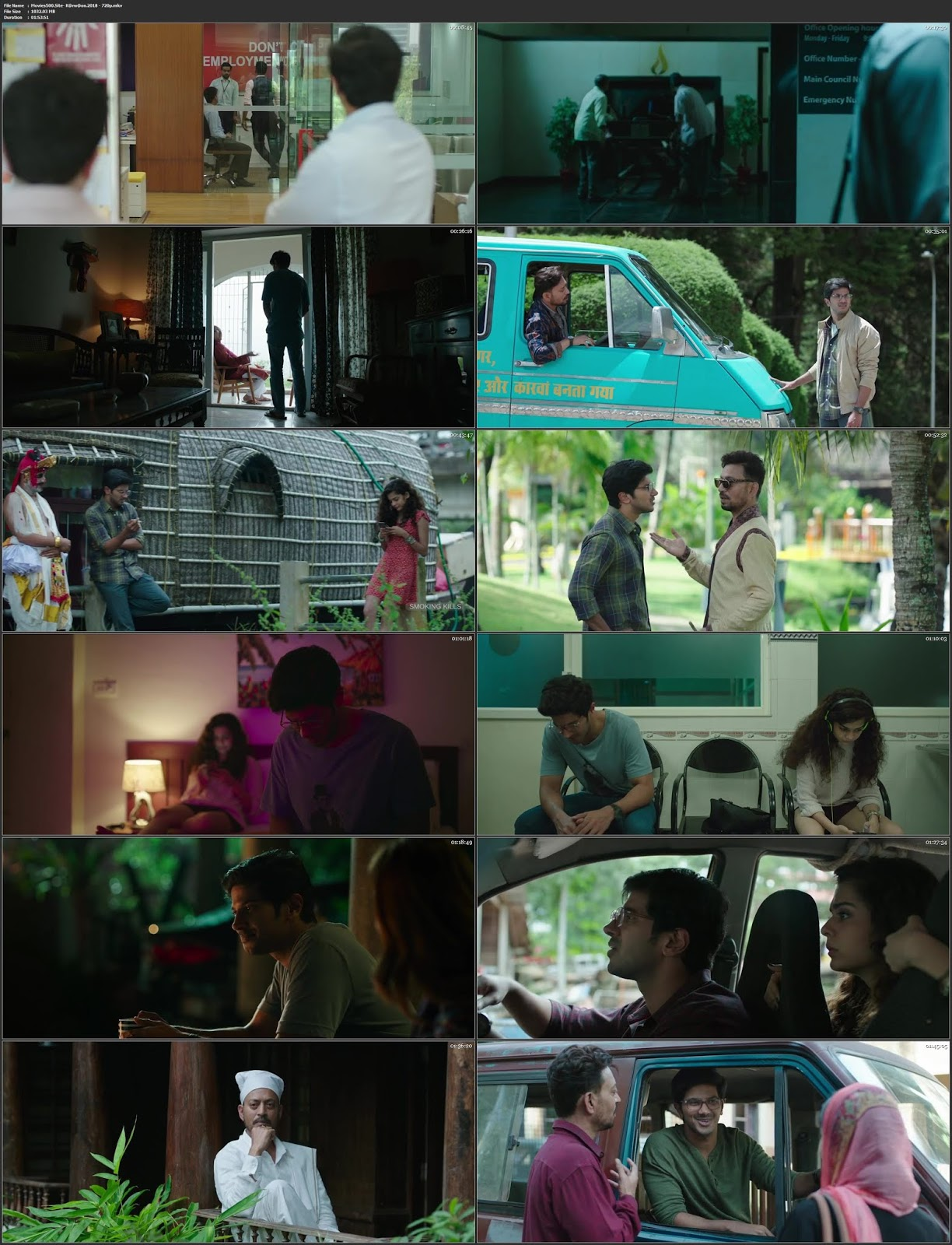 Karwaan 2018 Bollywood 300MB Hindi Movie HDRip 480p