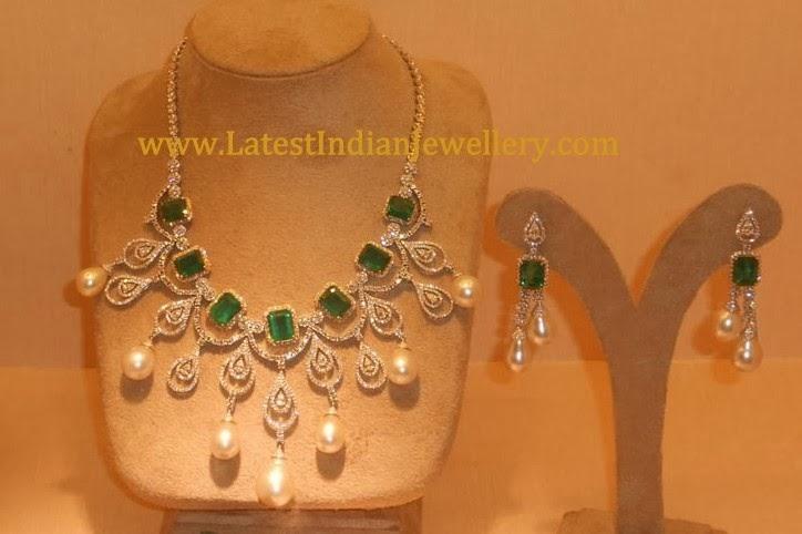 Diamond Emerald Fancy Necklace
