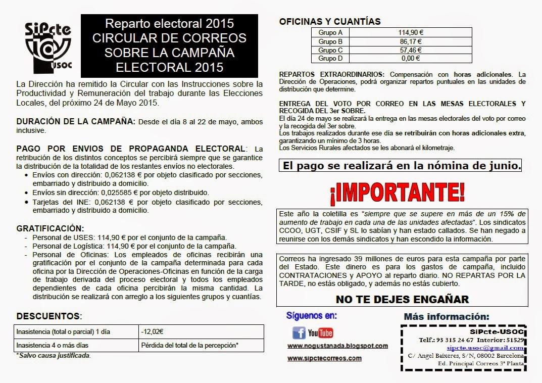 Sindicato sipcte de correos for Oficina de correo barcelona