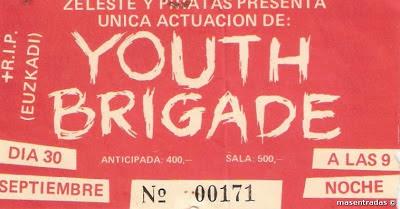 entrada de concierto de youth brigade