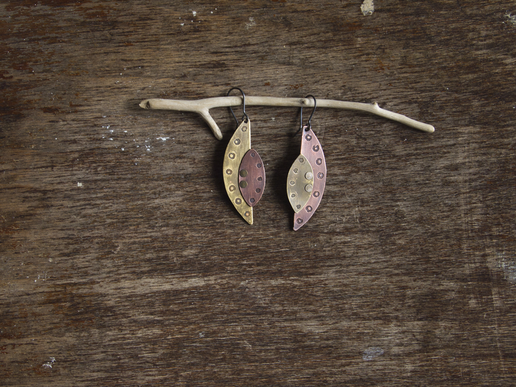 http://www.etsy.com/listing/175972723/mismatched-earrings-mixed-metal-earrings