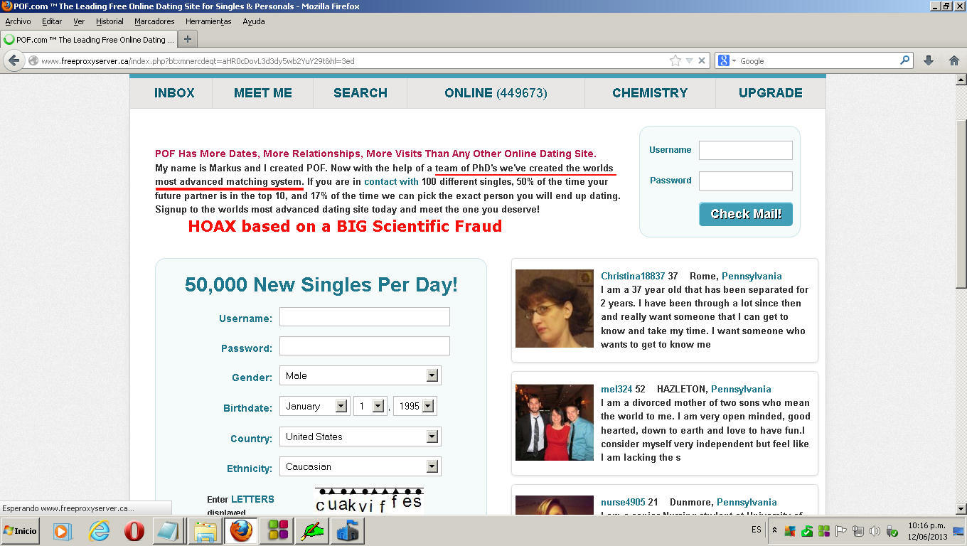 Scam you on pof dating site