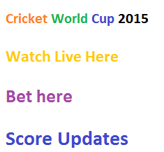 Cricket World Cup 2015 Schedule www.cricbuzz.com | ICC Cricket World Cup 2015 bet 365