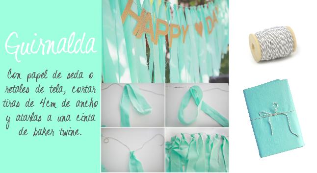 cómo hacer una guirnalda con tela o papel de seda