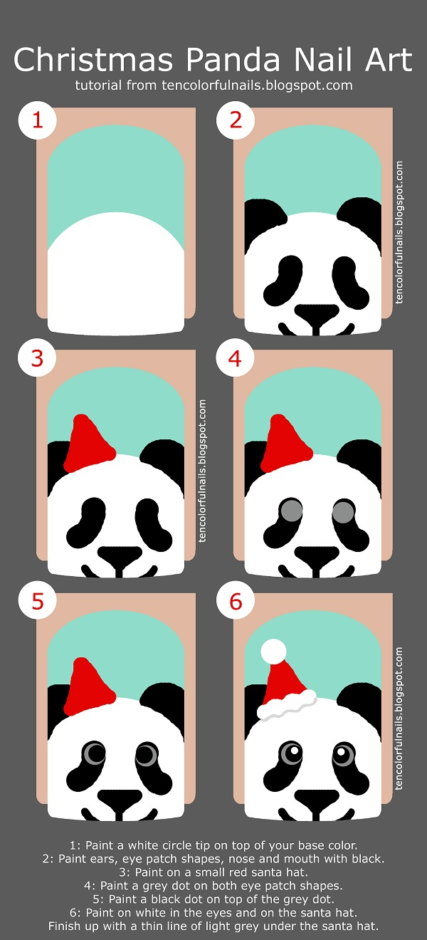 Christmas Panda Tutorial