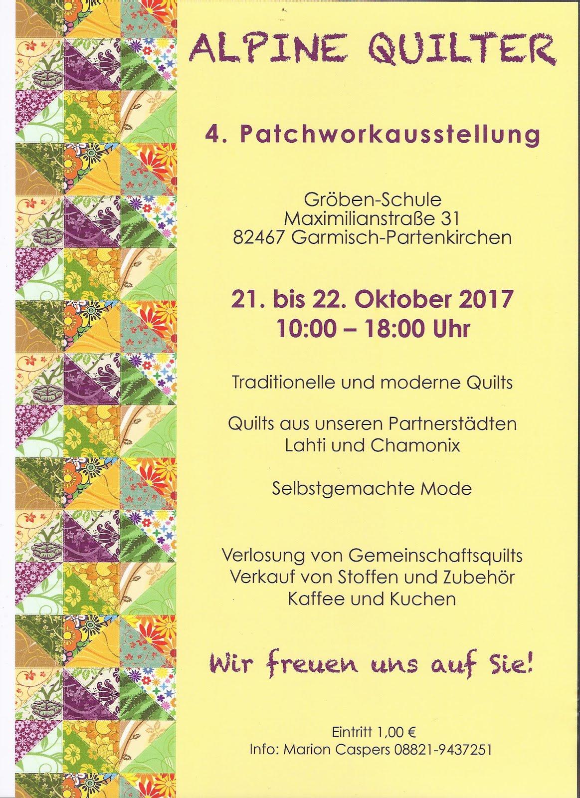Patchworkausstellung  Alpinen Quilter.