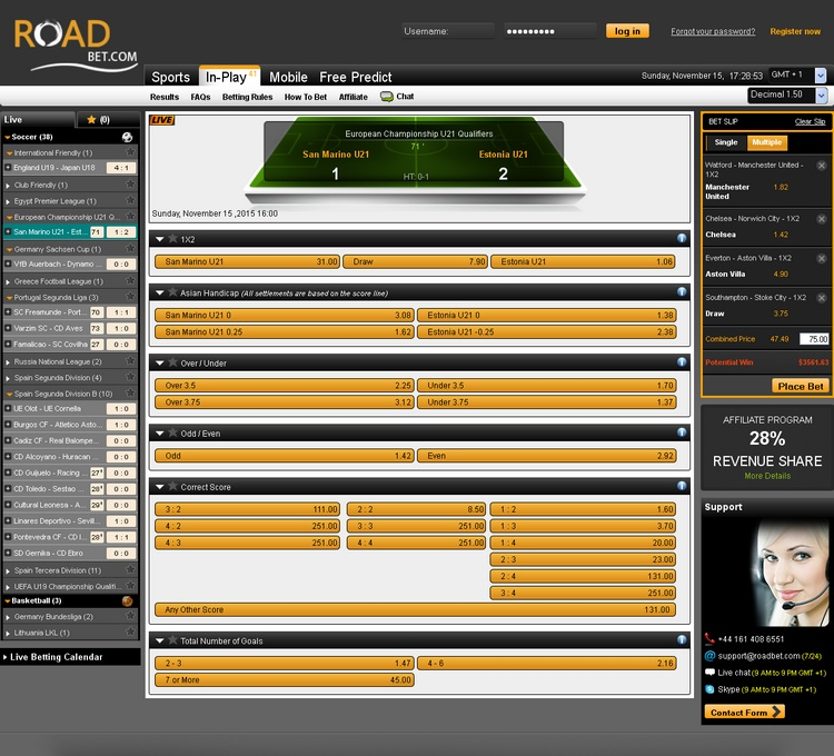 Roadbet Live Betting Offers