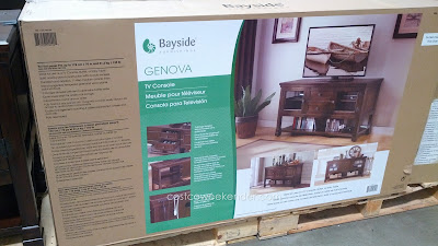 Bayside Furnishings Genova TV Console: for putting your tv and all your media in one central location