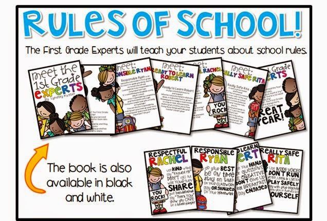 http://www.teacherspayteachers.com/Product/Back-to-School-for-First-Graders-Friends-in-First-268495