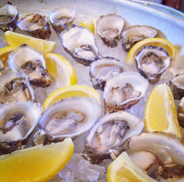 Oysters at Hugo's Frog Bar