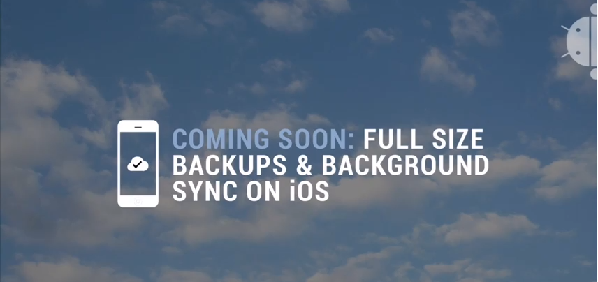 full size backups and background sync on ios