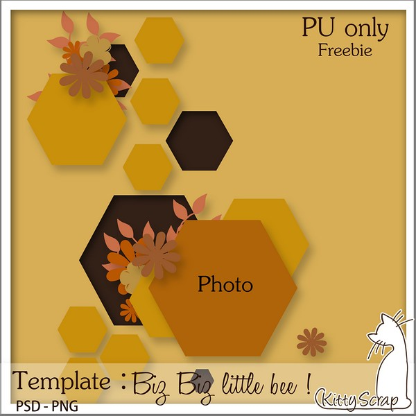 kittyscrap_bizbizlittlebee_template_preview
