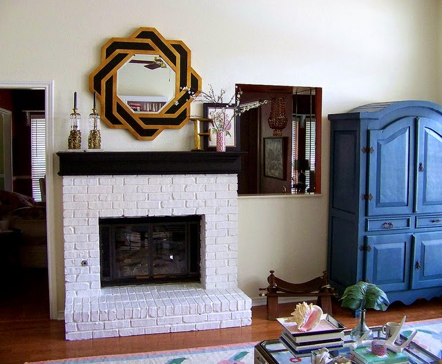 Painting Brick Fireplace design