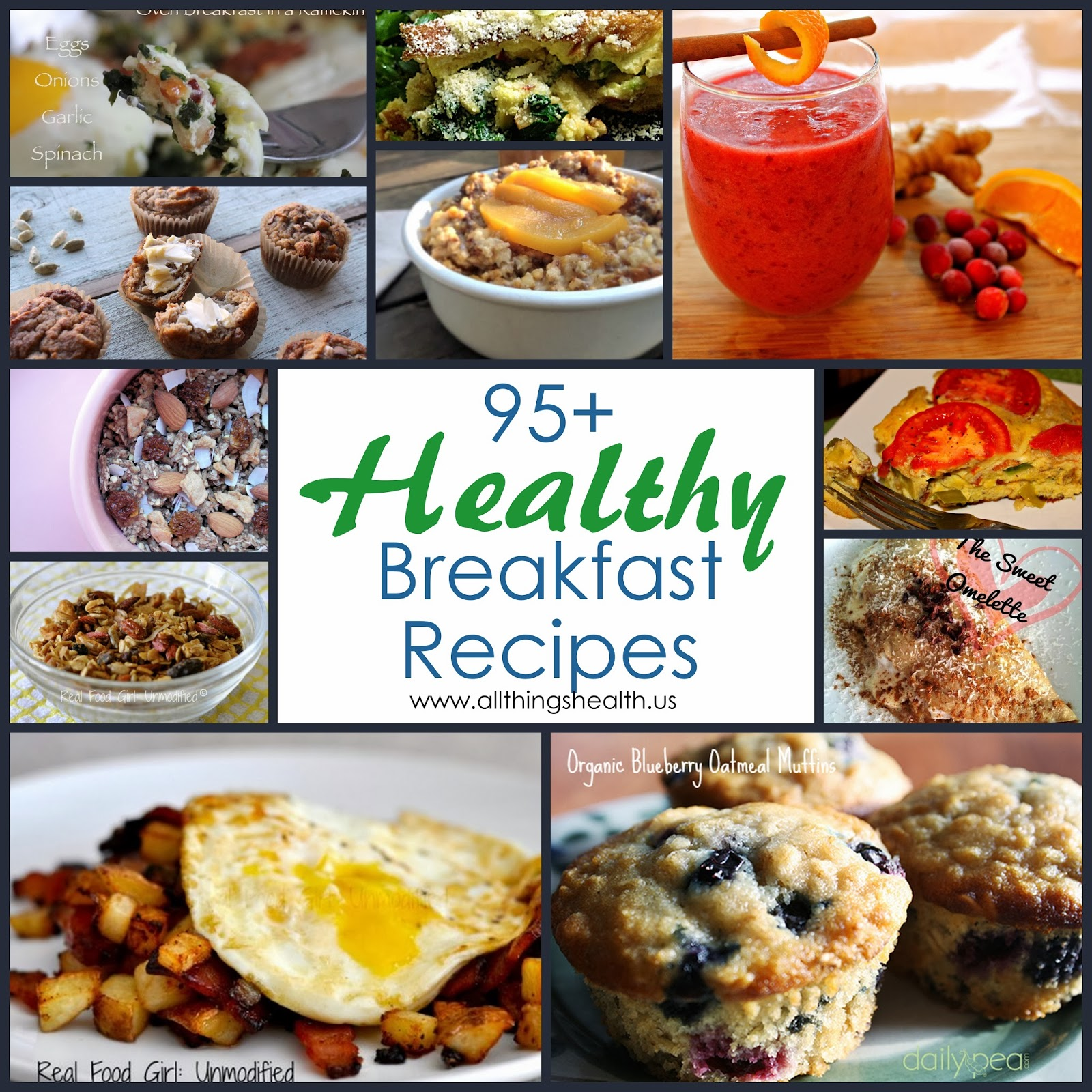 An awesome list of over 95 healthy breakfast recipes!