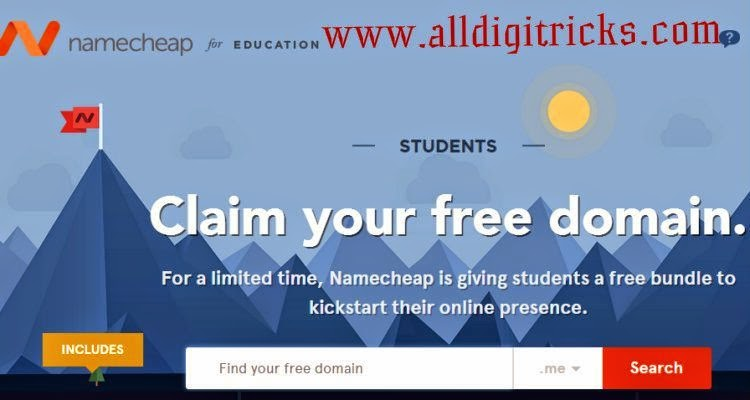 Free Domain Name From NameCheap