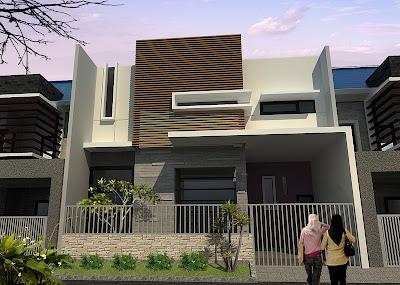 gambar contoh desain eksterior rumah minimalis