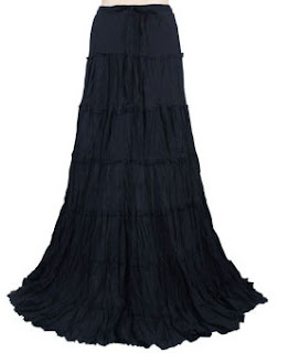 fabric layers skirt