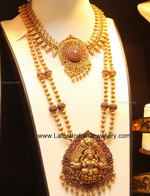 Gold Beads Ruby Temple Haram