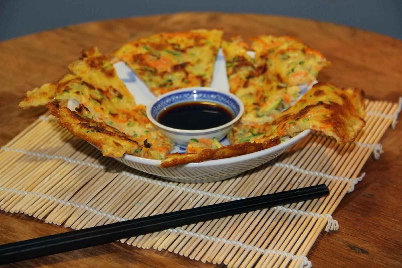 Koreaanse courgette pannenkoeken - www.desmaakvancecile.com