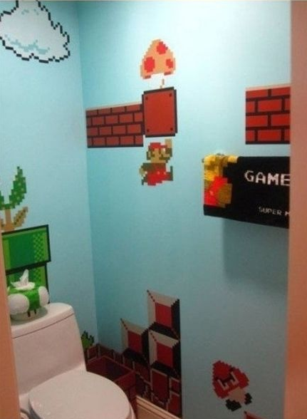 banheiro inspirado no mario bros eu adoro morar na internet