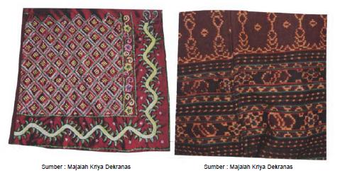 Gambar kiri: Motif Banjar Kalsel dan gambar kanan: Motif NTT