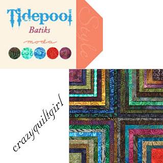 Moda Tidepool Batiks Quilt Fabric by Moda Fabrics