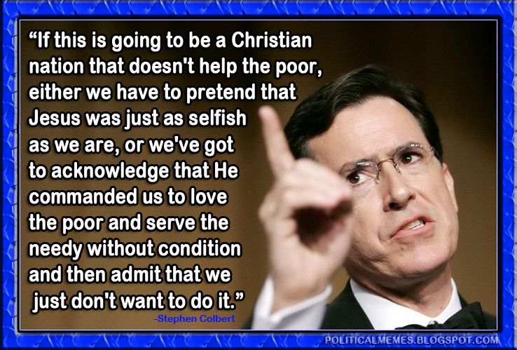 Political memes stephen colbert christian nation quote meme