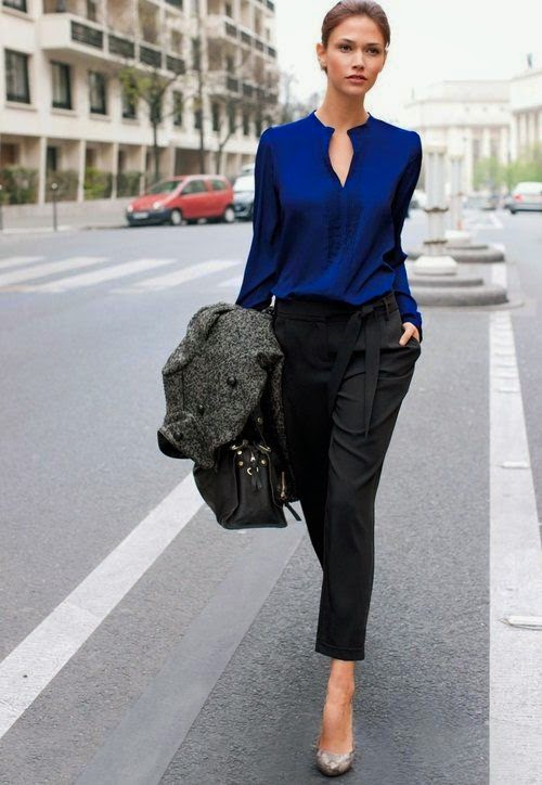 Tendência  moda  azul e preto