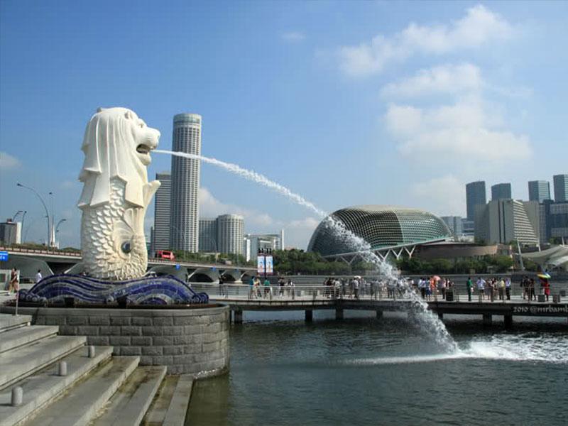singapore tempat wisata di lambang singapura