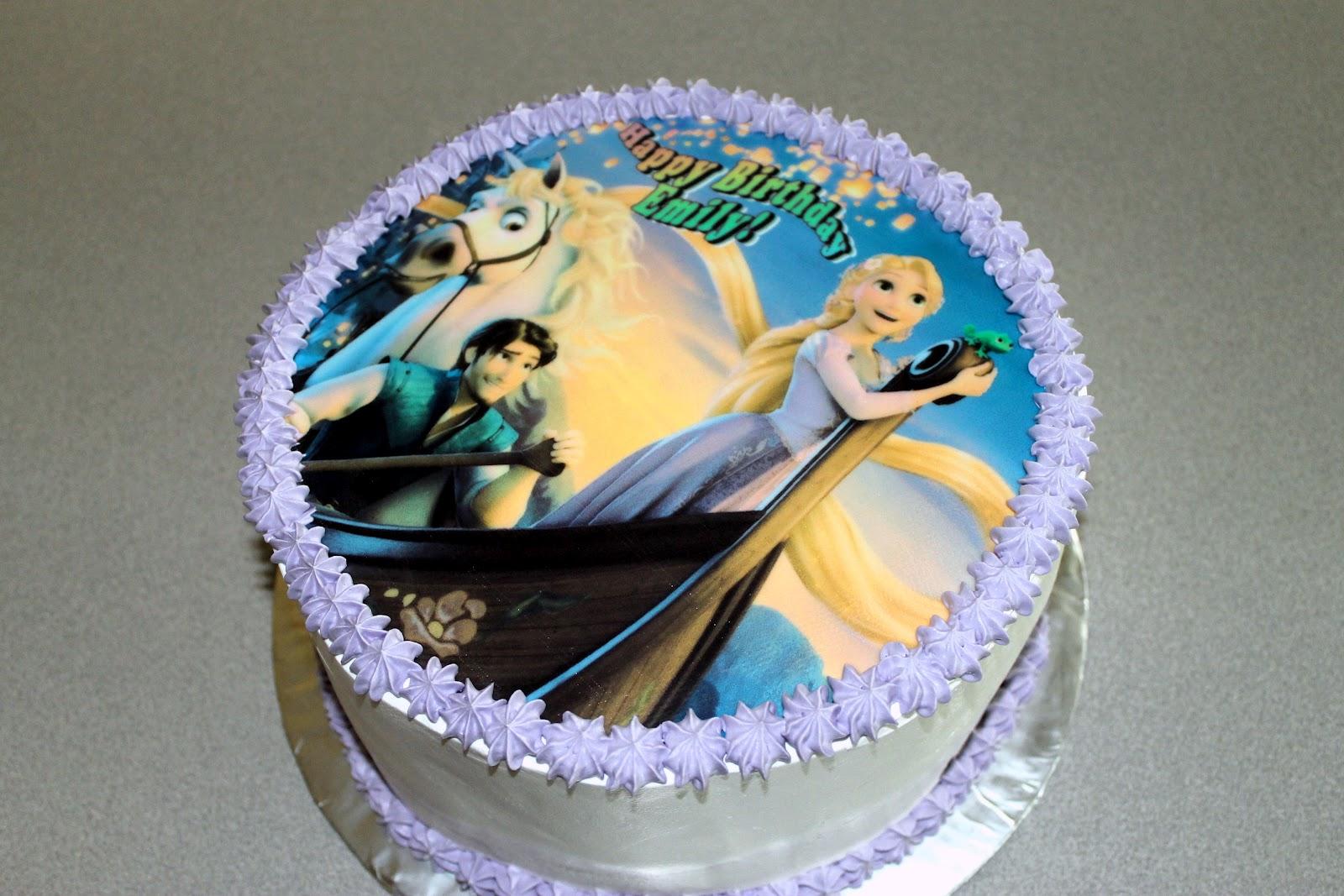 The Simple Cake Tangled Rapunzel Birthday Cake Cupcakes