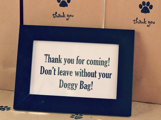 favor signs puppy party