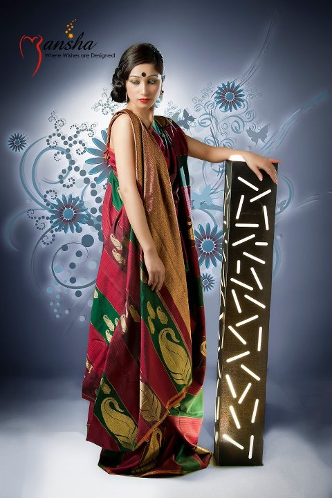 Mansha Lacha Designer Saree Blouse Collection 2012