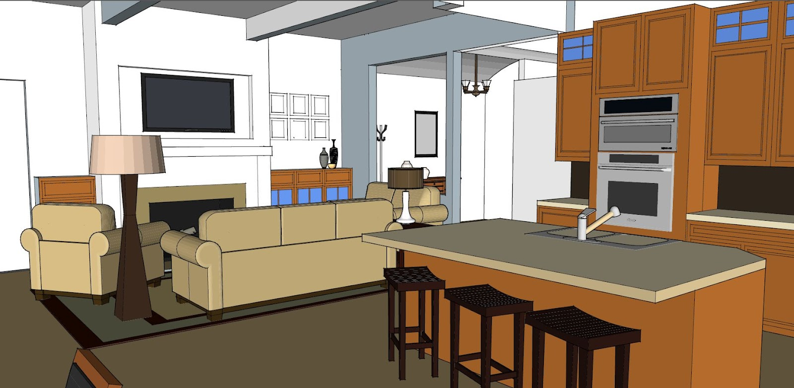 Beth c davis for Kitchen designs sketchup