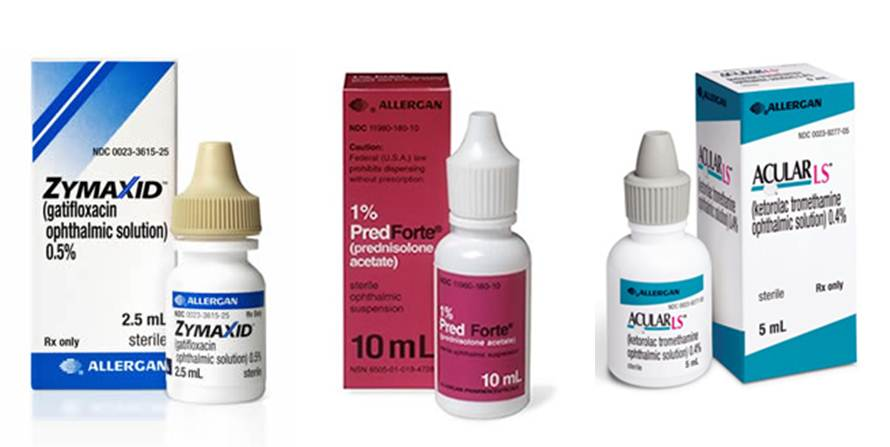 cataract surgery steroid eye drops