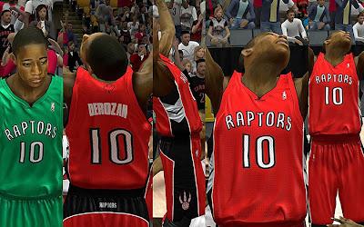 NBA 2K13 Toronto Raptors Jersey Pack