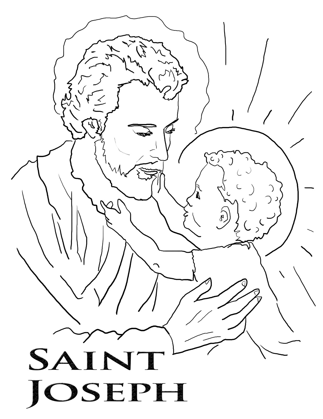 stjoseph feast day march 19 art portraits of saints saints pinterest st joseph - Father Coloring Page Catholic
