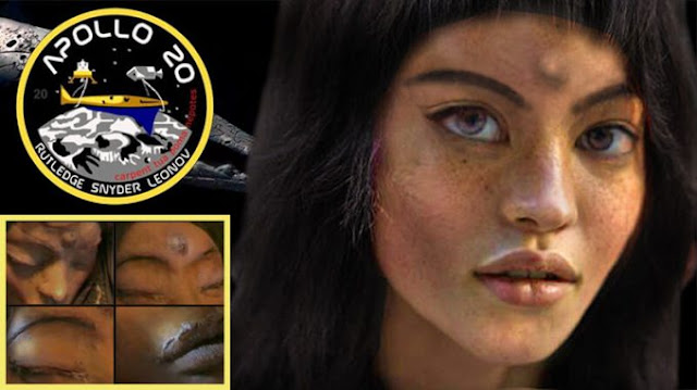 The Mystery Behind Mona Lisa, The Alien Girl Apollo 20 Found On The Moon