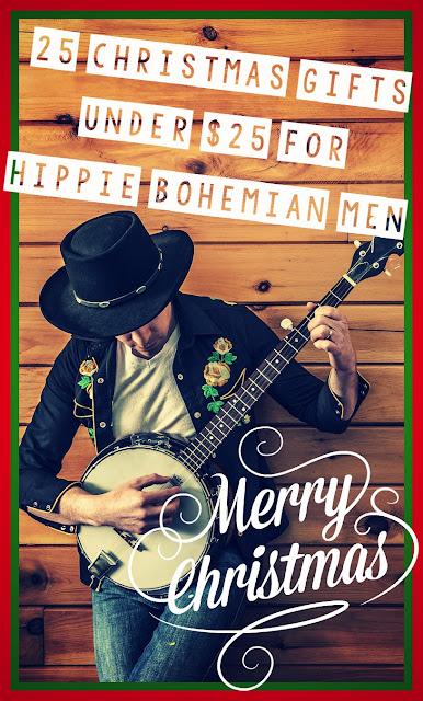 25 Christmas Gifts Under $25 for Hippie Bohemian Men {Gift Guide for Hippies/Bohemians}