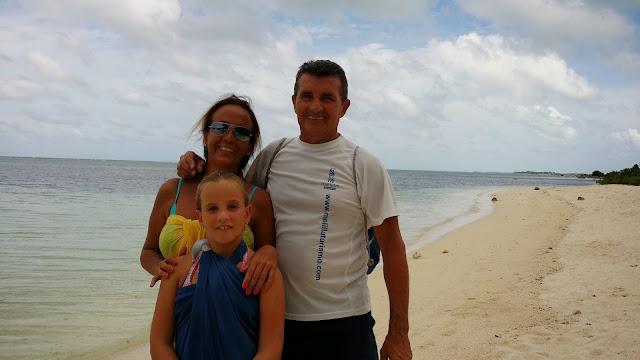 Familia Prada Sierra en Las Maldivas