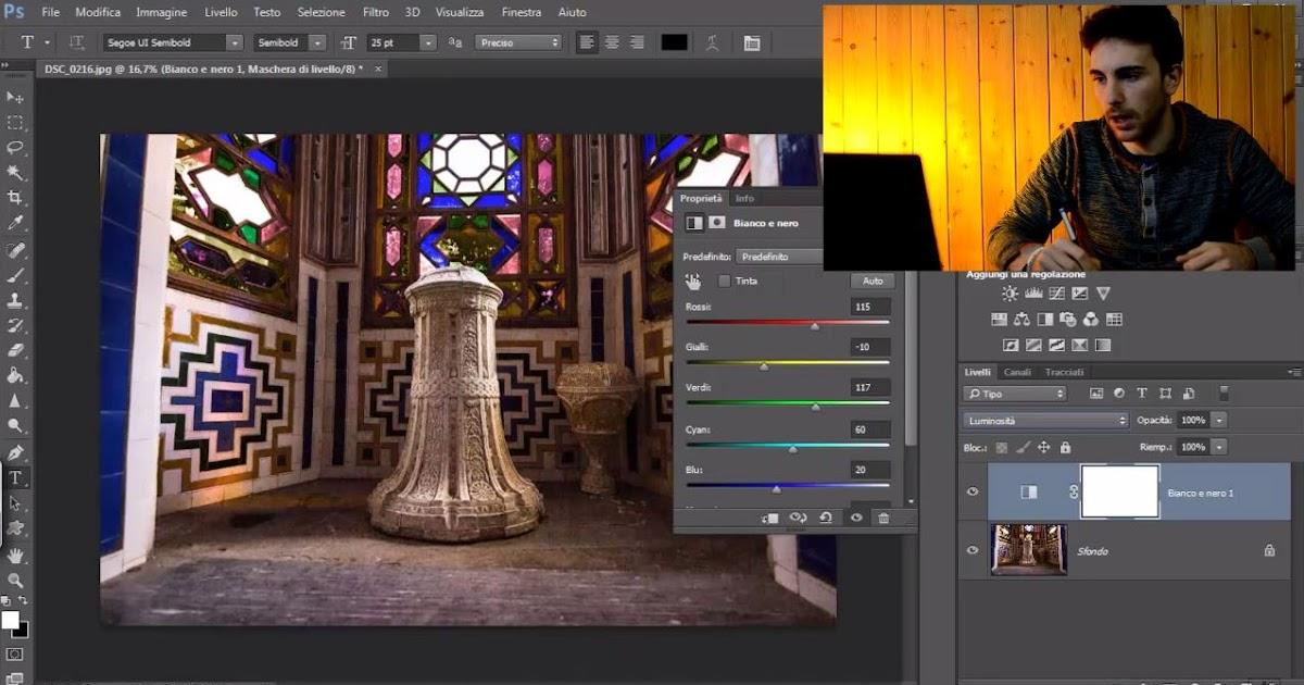 Come fare una Color Correction usando il livello di riempimento bianco e nero - Tutorial per Photoshop