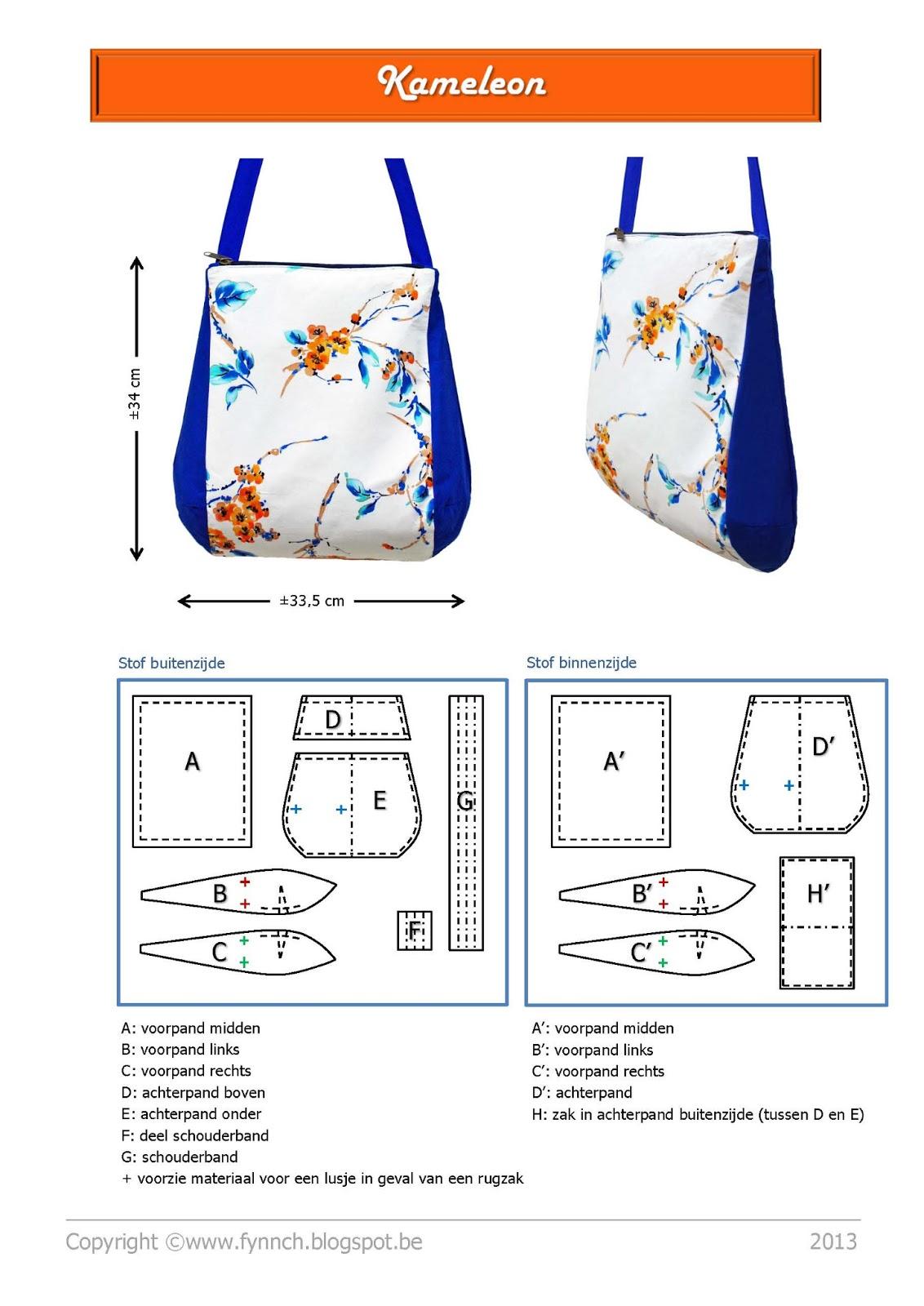 Детская сумочка выкройка