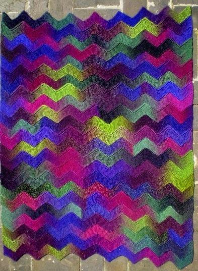 Daily Knitting Patterns Ten Stitch Zigzag