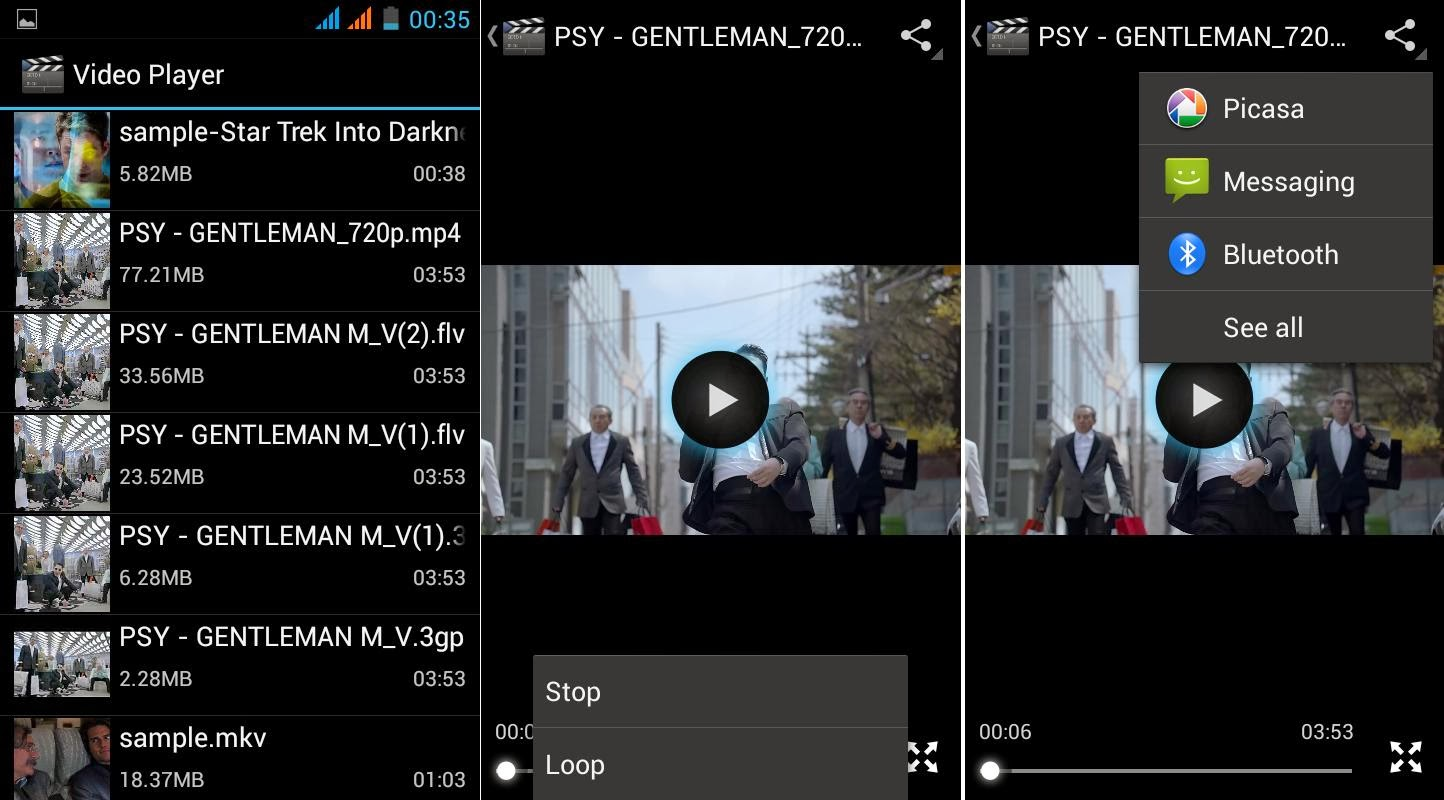 SKK Mobile Glimpse Video Player