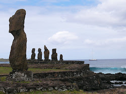 Ahu Va Huri with Ahu Tahai in background, Easter Island