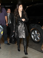 Kim Kardashian looking hot in leather outfit