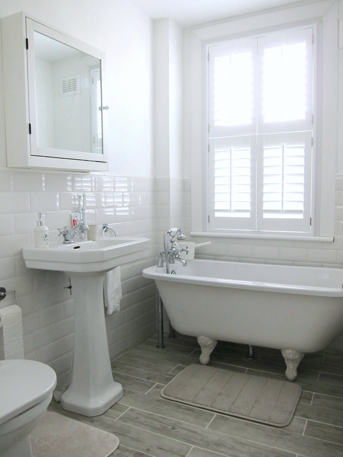 Bathroom decor before after lucy loves to eat - What do i need to clean my bathroom ...
